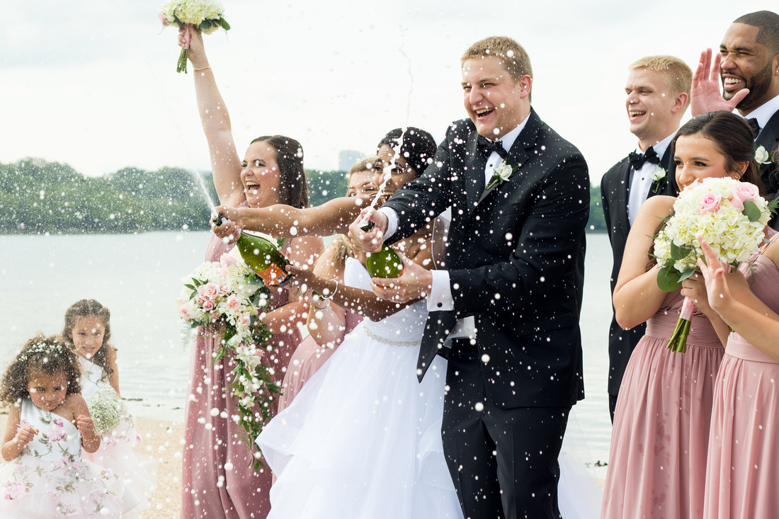 Candid Bridal Party wedding photography in Bethesda, Maryland by Goody Two Shoes Photography Studio