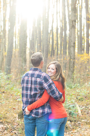 Maryland Engagement Photography and Portraits in the forest by Goody Two Shoes Photography Studio