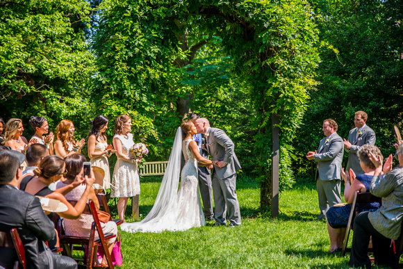 First Kiss wedding photography in Bethesda, Maryland by Goody Two Shoes Photography Studio