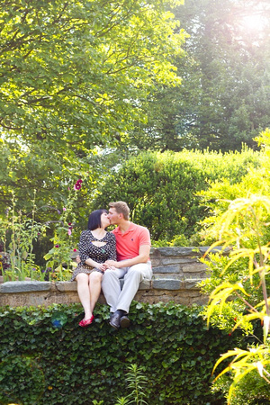 Maryland Engagement Photography and Portraits in Garden by Goody Two Shoes Photography Studio